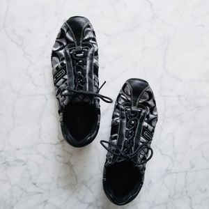 Coach Gray Sateen Kirby Sneakers - 9.5M